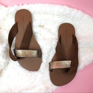 NEW Free People brown sandals size 36